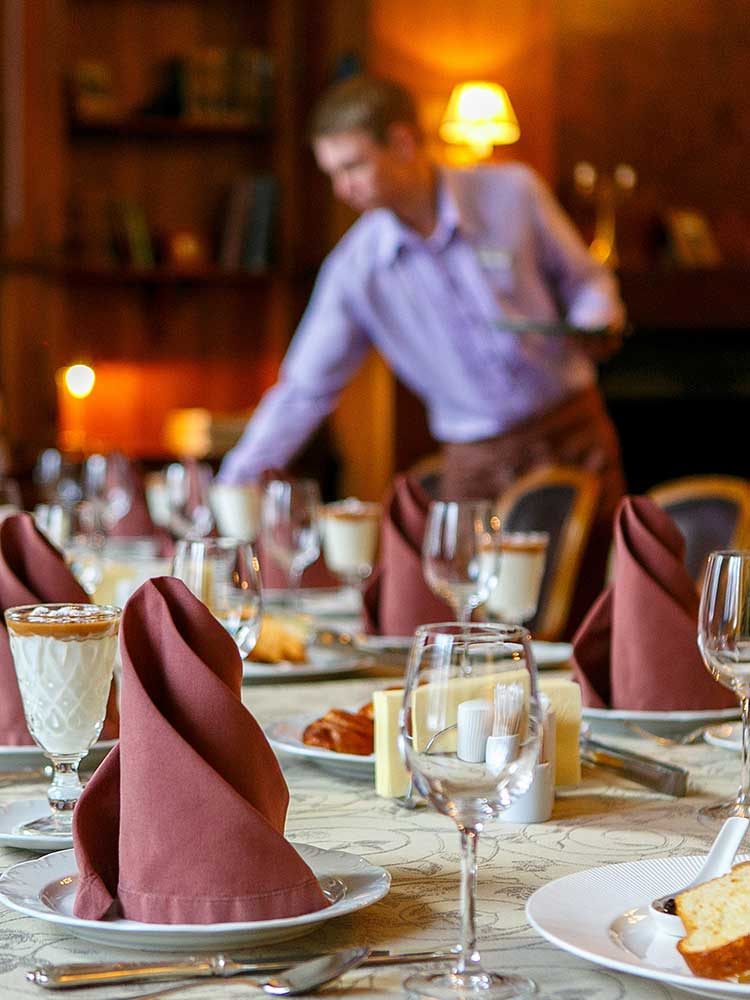 Service forms an integral part of vegetarian catering